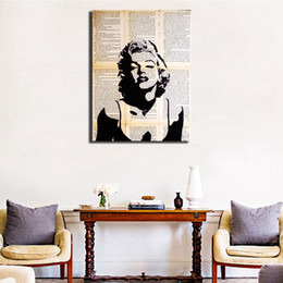 $enCountryForm.capitalKeyWord NZ - Black And White Marilyn Monroe Stencil Wall Art Canvas Posters Prints Painting Wall Pictures For Bedroom Home Decor Framework HD