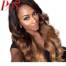 tone hair color lace fronts Australia - PAFF Ombre Dark Blonde Lace Front Human Hair Wigs Brazilian Remy Hair wig Two-Tone Color Side part with Baby Hair