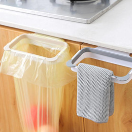$enCountryForm.capitalKeyWord Australia - 1PC Cupboard Door Back Trash Rack Storage Garbage Bag Holder Hanging Kitchen Cabinet Hanging Trash Rack Kitchen