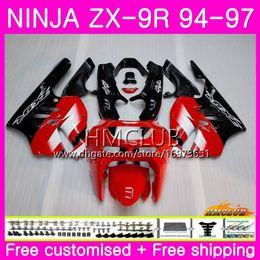 $enCountryForm.capitalKeyWord Australia - Bodys For KAWASAKI NINJA ZX 9R ZX900 ZX-9R 94 95 96 97 Kit 69HM.8 ZX 9 R 94 97 900CC ZX9R 1994 1995 1996 1997 Full Fairing Glossy Red black