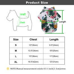 travel shirts NZ - Summer Beach Dog Shirt Cute Print Hawaii Beach Pet Cat Clothes Dogs Travel Shirt Small Dog Cat Blouse for Pug Chihuahua