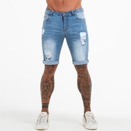 $enCountryForm.capitalKeyWord UK - Mens Shorts Fitness Denim Shorts Black High Waist Ripped Summer Summer Jeans Shorts For Men Plus Size Casual Streetwear Dk03 Y19060501