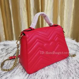 $enCountryForm.capitalKeyWord NZ - High quality women bags MICHAEL TOM Marmont Zig Zag chain bag ladies casual handbags fashion purse shoulder tote Bag 27CM