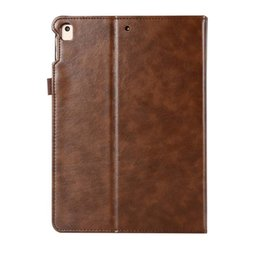 Asus Tablet Stands Australia - Classic PU Imitation Leather Case For ipad 5 6 With Folding Stand Dormancy Tablet Protective Cover