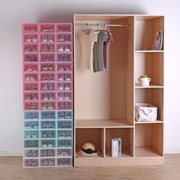 Yeni Şeffaf plastik ayakkabı saklama kutusu Japon ayakkabı kutusu Kalınlaşmış flip çekmece kutusu ayakkabı depolama organizatör DHL indirimde