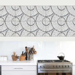 Tiles Design For Kitchen Wall NZ - DIY Art 10pcs set Imitation marble PVC Waterproof Self adhesive Wallpaper Kitchen Tile Sticker Wall Decal Living Room Home Decoration