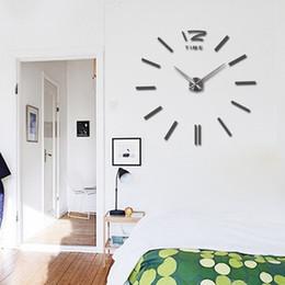 Large Chart Paper Australia - 2019 37inch hot sale wall clock large decorative wall clocks home decor diy clocks living room reloj mural sticker