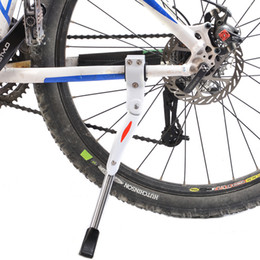 "Aluminum 24 Bike Australia - ROCKBROS Bicycle Parking Rack Rod Aluminum Alloy Adjustable Bike Kickstand Side Rear Kick Stand MTB Mountain Bike Parts 24''-28"""