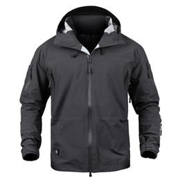 rain coat mans 2019 - Men jacket Hardshell Camouflage Army Autumn Jacket and Coat for men Multicam Waterproof Windbreaker Rain Coats S-2XL che
