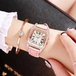 Chinese  Iced Out Watch Chronograph Montre DE Luxe Orologio Automatico INS Square Diamond Women Watches Cheap Price manufacturers
