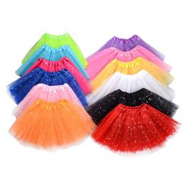 Discount little girls fashion tutu skirts - Little Girls Dance Dresses Children Candy Color Paillette Tutus Skirt Soft Tutu Dress Ballet Skirt 3layers Children Pett