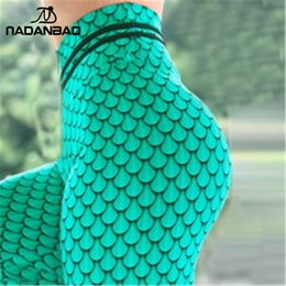 scale print leggings UK - NADANBAO 2019 New Products Sexy Women Green Fish Scale Fitness 3D Print Workout Leggings For Woman