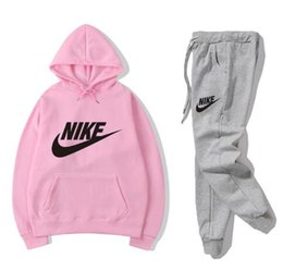 skateboarding clothing NZ - 2019 Brand Designer Leisure suit men and women Winter new fashion Sports suit High-quality clothing #055