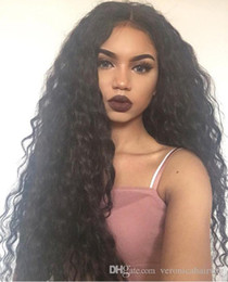 $enCountryForm.capitalKeyWord NZ - Fashion Style Cheap Brown Black Afro Kinky Curly Lace Wigs for Black Women Heat Resistant Glueless Synthetic Lace Front Wigs with Baby Hair