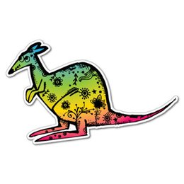 $enCountryForm.capitalKeyWord UK - For Cute Rainbow Kangaroo Australia Sticker Decal Sticker Pet Art Notebook Car Fun Bumper Vinyl Accessories