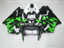 $enCountryForm.capitalKeyWord Australia - Hot sale plastic fairing kit for Kawasaki Ninja ZX7R 96 97 98 99 00-03 green flames black fairings kits ZX7R 1996-2003 TY09