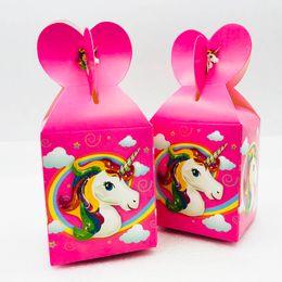 $enCountryForm.capitalKeyWord Australia - 6pcs lot Cute Cartoon Unicorn Candy Box Baby Birthday Party Supplies And Favors Birthday Party Decoration And Festival Event