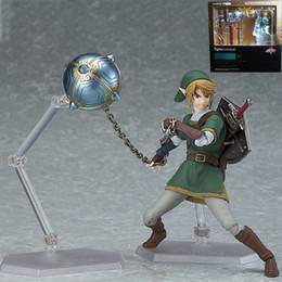 Link Action Figures NZ - 14cm The Legend Of Zelda Skyward Sword Link Figma 320 Twilight Princess Pvc Action Figures Toys Anime Figure Toys For Children