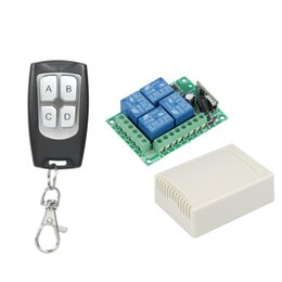 Discount 433 mhz module - 433Mhz Universal Wireless Remote Control Switch DC 12V 4 CH RF Relay Receiver Module + RF Remote 433 Mhz Transmitter Diy