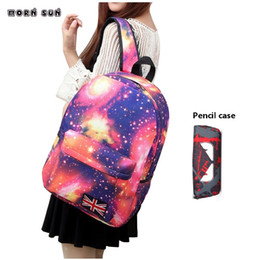 $enCountryForm.capitalKeyWord NZ - 2pcs set Women school bag print backpack for teenage girl boy star school bag Teenagers Girls Travel Rucksacks Mochila