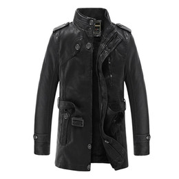 $enCountryForm.capitalKeyWord NZ - Leather Jacket Men Brand Motorcycle Artificial Jaqueta de Couro Masculina Faux Fur Liner Mens Leather Jackets and Coats