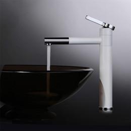 $enCountryForm.capitalKeyWord Australia - Brass material polished and white paint fashion design bathroom basin mixer faucet rotation water mixer 2 choose