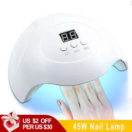 $enCountryForm.capitalKeyWord NZ - 45W Nail UV Lamp For Manicure LED Nail Dryer Drying Polish Ice Lamp Sun Light with 15 Pcs Leds Auto Sensor Art Tools