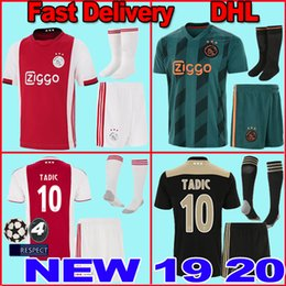 Ajax home rojo blanco Soccer Jerseys 18/19 Ajax away Camiseta de fútbol 2019 # 10 TADIC # 34 NOURI # 25 DOLBERG TADIĆ #10 uniforme de fútbol talla adult kit Football kit shirt