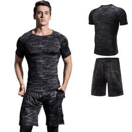 $enCountryForm.capitalKeyWord NZ - PENERAN Sport Suit Men T-shirt Shorts Outfit Dry Fit Running Jogging Set Man Brand Breathable Camouflage Male Sportswear Summer