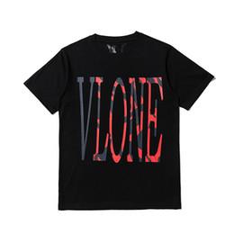 Pop Tees Australia - New Style Classic Vlone FRIENDS MIAMI POP red LOGO Big V Women Men T shirts Hip hop Skateboard Brand Men Cotton tee 2 colors for Summer