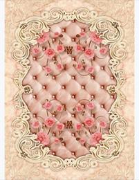$enCountryForm.capitalKeyWord Australia - Customized 3D Self-adhesive floor photo mural wallpaper European area marble jade texture parquet 3D stone pattern waterproof floor tile