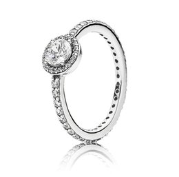 $enCountryForm.capitalKeyWord UK - 925 Sterling Silver Ring Pave Classic Elegance With Crystal Pan Rings For Women Wedding Party Gift Fine Jewelry