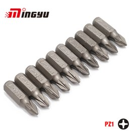 Power screwdriver bits online shopping - 10Pcs quot mm Pozidriv PZ1 Screwdriver Bit Set Repair Tools ScrewdriversKit Hex Shank Drill Bit For Power Household Hand Tools