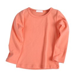 $enCountryForm.capitalKeyWord Australia - New Fashion Kids Solid Cotton T-shirt Children Clothing Baby Boys Girls Long Sleeve Tops Spring Autumn Tees Casual Clothes