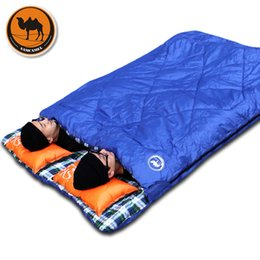 $enCountryForm.capitalKeyWord NZ - Adult outdoor camping sleeping bag envelope pattern couple lover travel warm weather use can split into two sleeping bags