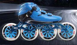 Trix carbon fiber straight row pancake wheel adult men's and women's speed skates children's professional single row speed skates on Sale