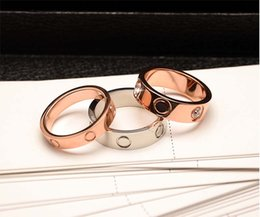 Love Ring Australia - Love Ring for Couples Titanium Steel Rose Gold Silvery Ring with Cubic Zircon and Screw Lover Ring