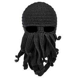 7806139e1aa Winter Face Mask Snowboard Octopus Wool Balaclava Funny Hat Warm Bonnet Cap  Winter