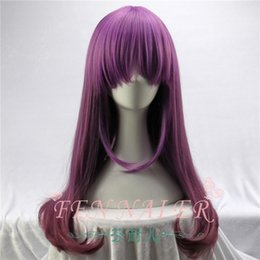 Wig Purple Mixed Australia - Harajuku style mixed purple gradient Lolitasen female high-grade micro-hair long straight hair foreign trade wig
