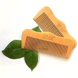 Men head crown online shopping - 100pcs Customized LOGO Crown Shaped Wooden Combs for Head Hair Beard Mustache Anti Static Pocket Comb for Men Women cm
