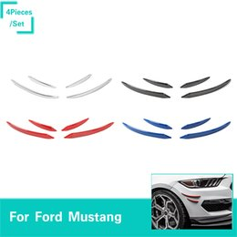 mustang accessories Australia - 4Color ABS Small Wind Knife Decorative Strip Fit Ford Mustang 2015-2016 Car High Quality Exterior Accessories