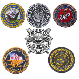 $enCountryForm.capitalKeyWord NZ - USMC Military Patches United States Marine Corps Seal 3D Embroidery tactical patch for clothing bags uniforms with Hook & Loop
