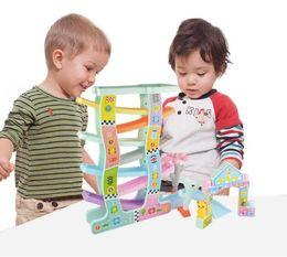 plastic train track set 2019 - Baby Colorful Educationa PVC Ladder Gliding Car Slot Track Car Glider Toys Educational Model To Slide Toy