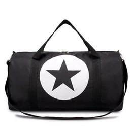 Cartoon Pointed Star Australia - Nylon Material Waterproof Travel Gym Bag Five-pointed Star Large Capacity Women And Men Bags C19040401