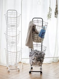 household laundry basket Canada - Dirty clothes household clothing classification Home Storage & Organization Housekeeping & Organization rack laundry basket can be hanging N