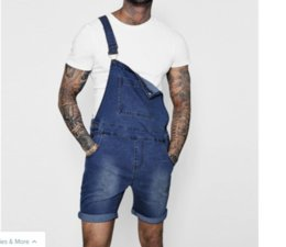 Discount trousers overall jeans - Summer Autumn Men's Overall Casual Playsuit Jeans Men Pocket Trousers Suspender Casual Pants Man Fashion