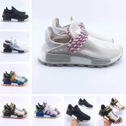 Black White Men Shoes Cheap Australia - Cheap 36 Human Race Shoes discount Williams Human Race men women Sports R Shoes Black White Grey Nmds primeknit PK runner XR1 R1 R2 Sneakers