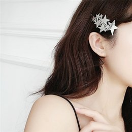 $enCountryForm.capitalKeyWord Australia - bobby pin Metal Stars Five-pointed Star Hairpin Network Red Side Clip Fringe Mix Baby's Breath Headwear Woman