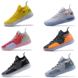 kd low top basketball shoes Australia - 2019 New KD 11 Aunt Pearl Pink Paranoid Cool Grey EYBL Kevin Durant XI Mens Basketball Shoes Top 11s KD11 Foam Sneakers Size7-12