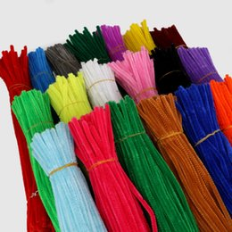 $enCountryForm.capitalKeyWord Australia - 100pcs Chenille Stems Pipe Cleaners 5mm Children Kids Plush Educational Toy Crafts Colorful Pipe Cleaner Toys Handmade Diy Craft